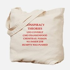 conspiracy theories Tote Bag