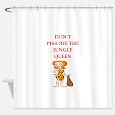 jungle queen Shower Curtain