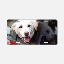 Dog Smile Aluminum License Plate