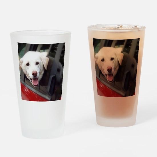 Dog Smile Drinking Glass