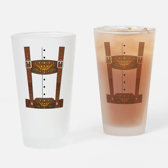 Lederhosen Oktoberfest Drinking Glass
