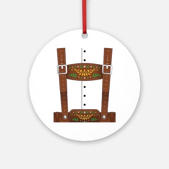 Lederhosen Oktoberfest Round Ornament