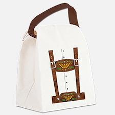 Lederhosen Oktoberfest Canvas Lunch Bag