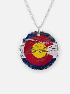 Colorado Vintage Flag Necklace
