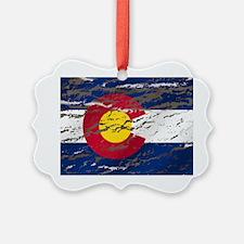 Colorado Vintage Flag Ornament