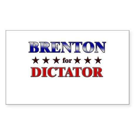 BRENTON for dictator Rectangle Sticker
