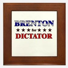 BRENTON for dictator Framed Tile
