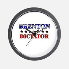 BRENTON for dictator Wall Clock