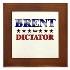 BRENT for dictator Framed Tile