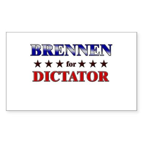 BRENNEN for dictator Rectangle Sticker