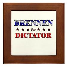 BRENNEN for dictator Framed Tile