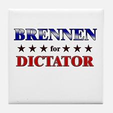 BRENNEN for dictator Tile Coaster