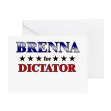 BRENNA for dictator Greeting Card