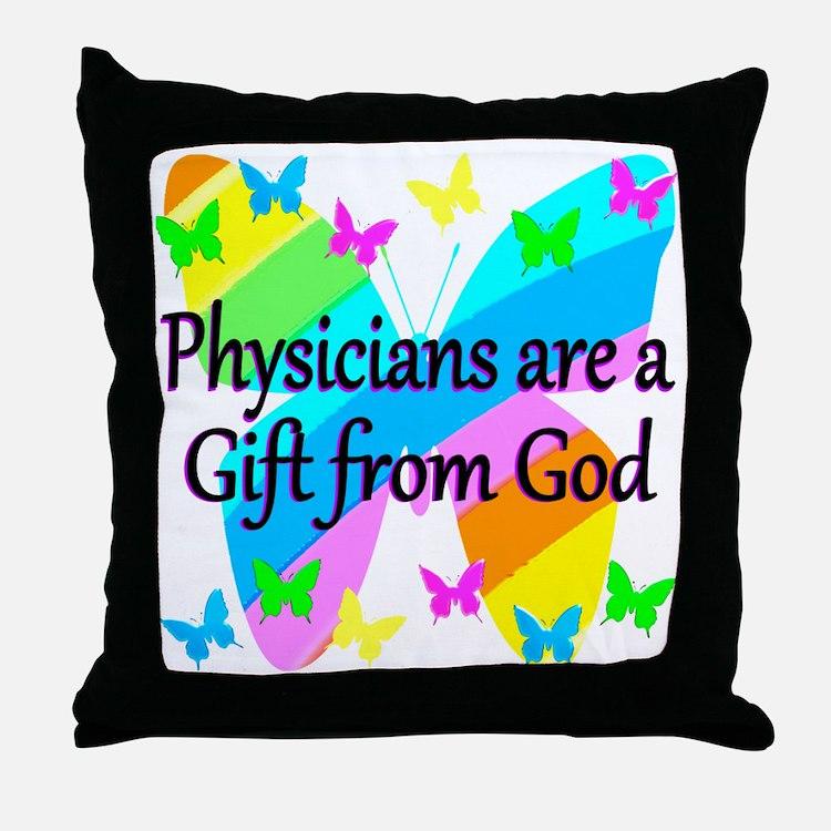 DOCTOR PRAYER Throw Pillow