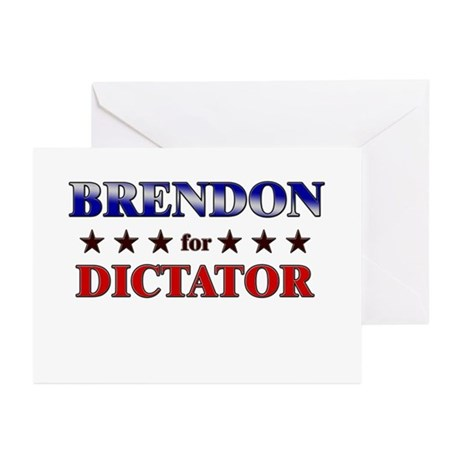 BRENDON for dictator Greeting Cards (Pk of 20)