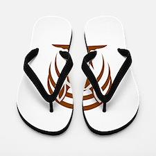 Armadillo Isolated Retro Flip Flops