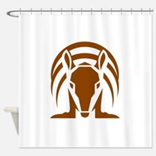 Armadillo Isolated Retro Shower Curtain