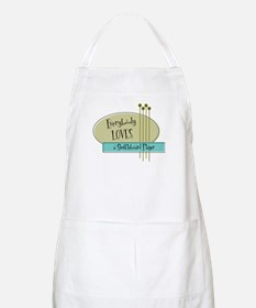 Everybody Loves a Shuffleboard Player BBQ Apron
