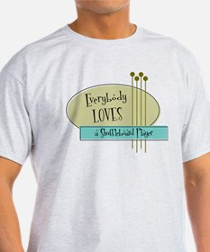 Everybody Loves a Shuffleboard Player T-Shirt