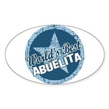 Worlds Best Abuelita Oval Decal