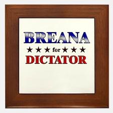 BREANA for dictator Framed Tile