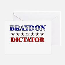 BRAYDON for dictator Greeting Card