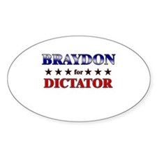 BRAYDON for dictator Oval Decal