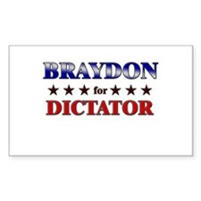 BRAYDON for dictator Rectangle Decal