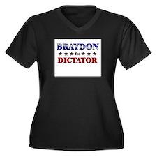 BRAYDON for dictator Women's Plus Size V-Neck Dark