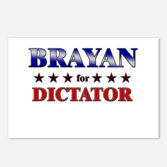 BRAYAN for dictator Postcards (Package of 8)