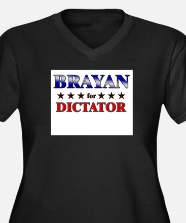 BRAYAN for dictator Women's Plus Size V-Neck Dark
