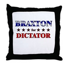 BRAXTON for dictator Throw Pillow