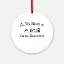 Adam Ornament (Round)