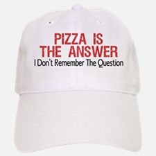 Pizza Is The Answer Baseball Baseball Baseball Cap