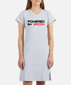 Powered By Bacon Women's Nightshirt