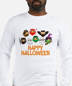 Halloween Owls in Costume Long Sleeve T-Shirt