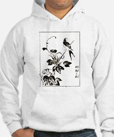 Morning Glory & Swallow Ukiyoe Hoodie