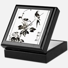 Morning Glory & Swallow Ukiyoe Keepsake Box