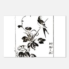 Morning Glory & Swallow Postcards (Package of 8)