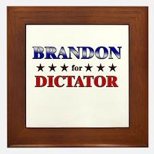 BRANDON for dictator Framed Tile