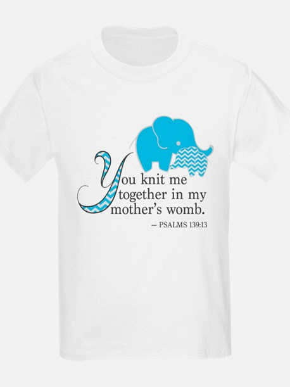Blue Psalms 139:13 T-Shirt