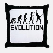 Guitar Evolution Throw Pillow