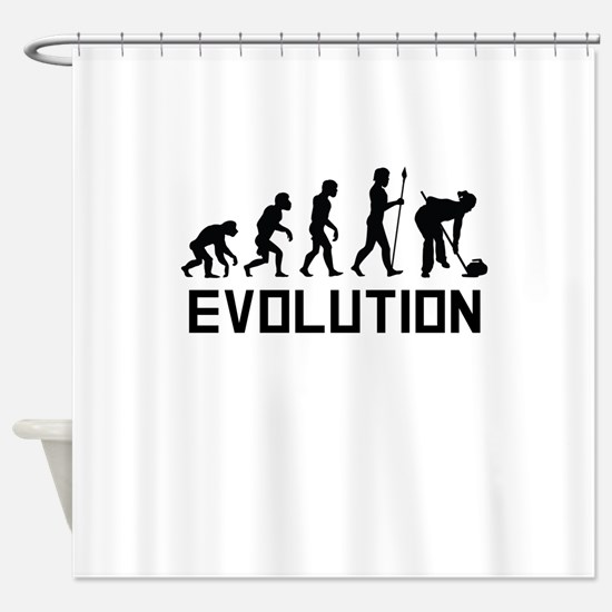Curling Evolution Shower Curtain