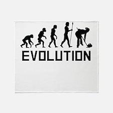 Curling Evolution Throw Blanket