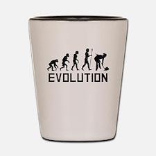 Curling Evolution Shot Glass
