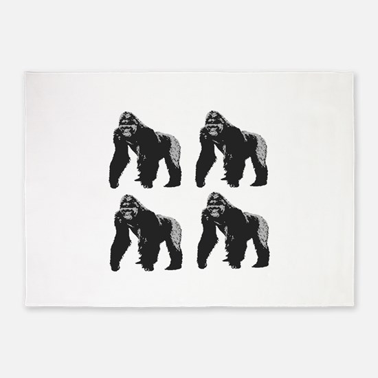 GORILLAS 5'x7'Area Rug