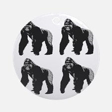 GORILLAS Round Ornament