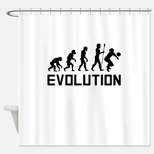 Volleyball Evolution Shower Curtain