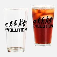 Volleyball Evolution Drinking Glass