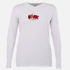 Cute Rescued dog Plus Size Long Sleeve Tee